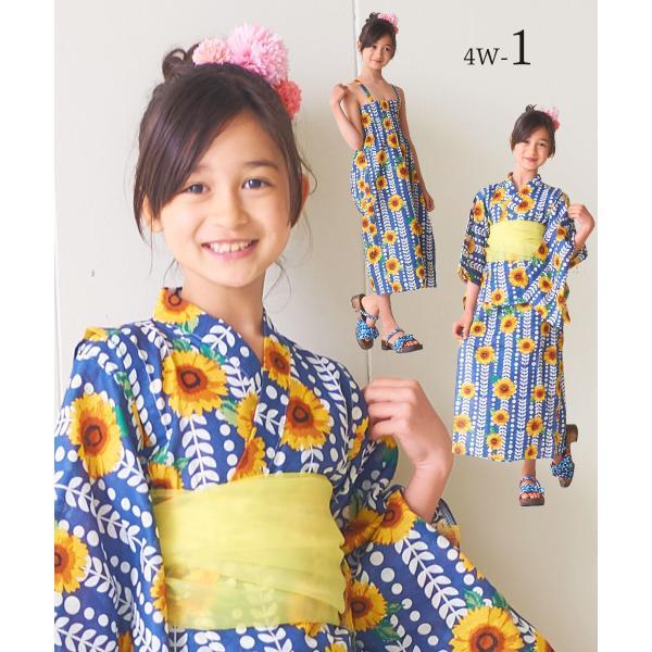 2019年 夏 新作 子供 2way 浴衣 サンドレス 3点セット 4柄 6サイズ ワンピース浴衣 モダン&キュート|kimono-cafe|07