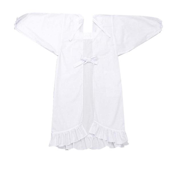 (割烹着 白) 90cm シンプル 和装 着物 エプロン かっぽうぎ かわいい 無地 水屋 炊事 母の日 ホワイト|kimono-japan|06