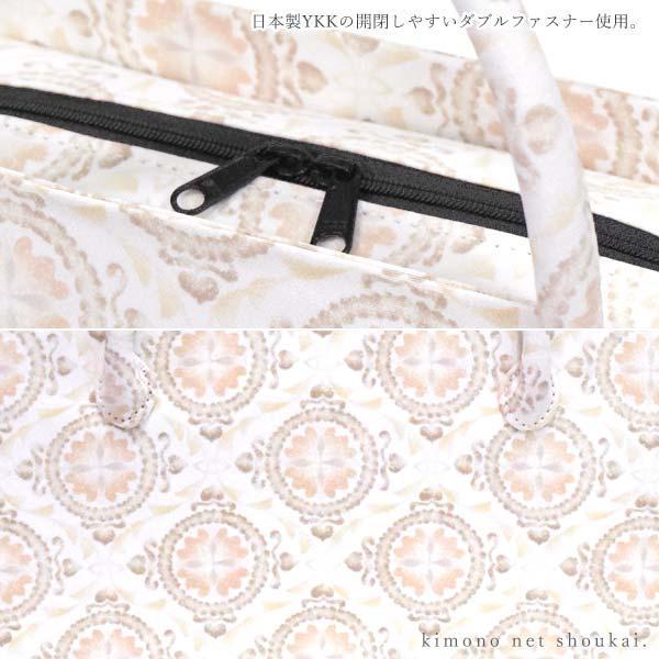 和装バッグ【利休バッグ 水色 桜 9625】手提げ かばん カジュアル|kimono-japan|03