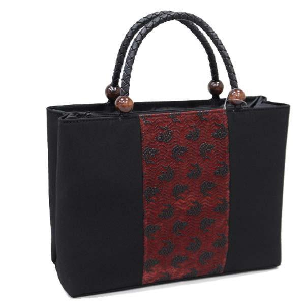 和装バッグ【印伝調 和柄バッグ 14652】手提げ かばん 和装バック サブバッグ kimono-japan