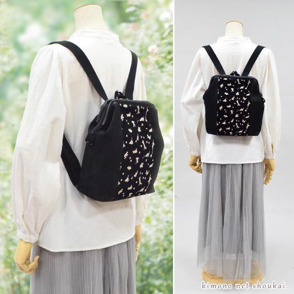 (和装バッグ)スクエアラウンド型/正絹西陣織紬 濃紺×赤 格子 チェック 14652 ハンドバッグ 手提げ かばん 着物 バック カジュアル