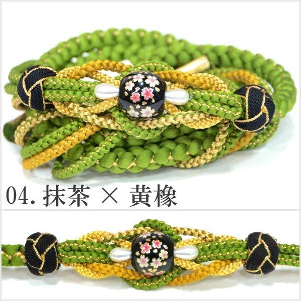 (振袖用 帯締め)桜トンボ玉 手組み紐 伝統和色 13194 古典 サクラ さくら|kimono-japan|05
