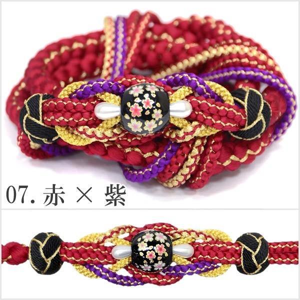 (振袖用 帯締め)桜トンボ玉 手組み紐 伝統和色 13194 古典 サクラ さくら|kimono-japan|08