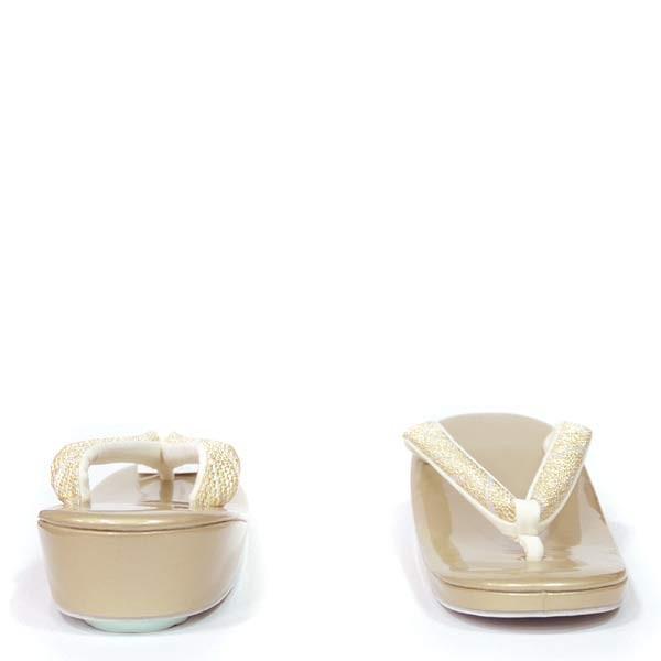 (草履 礼装用 一枚芯) LLサイズ  エナメル小判型 金台 ゴールド/  モダン 15503 単品 留袖 訪問着 フォーマル 結婚式 大き目|kimono-japan|03