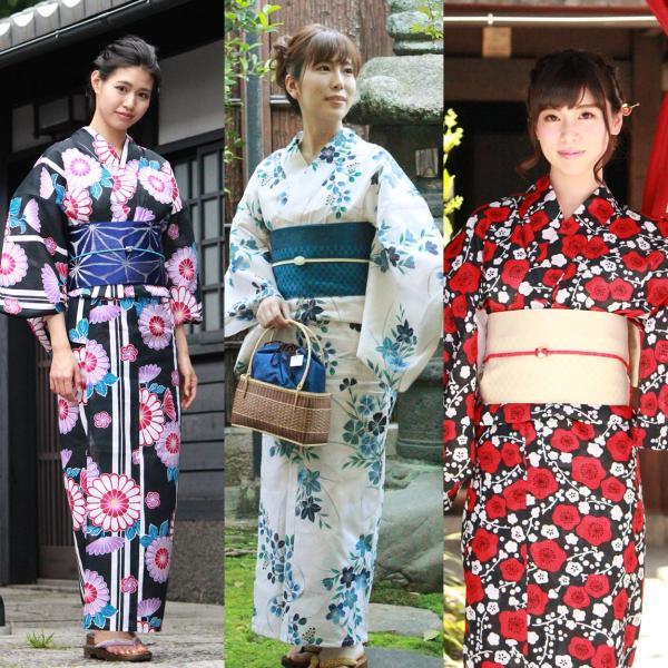 レディース 浴衣 2点セット S M Lサイズ ゆかた 半幅帯 浴衣帯 腰紐2本プレゼント セール対象外 女性 レトロ|kimono-kyoukomati|03