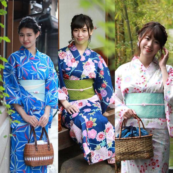 レディース 浴衣 2点セット S M Lサイズ ゆかた 半幅帯 浴衣帯 腰紐2本プレゼント セール対象外 女性 レトロ|kimono-kyoukomati|04