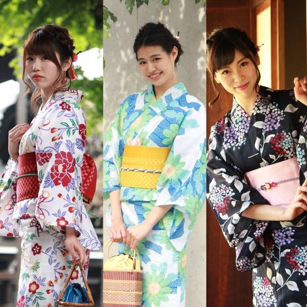 レディース 浴衣 2点セット S M Lサイズ ゆかた 半幅帯 浴衣帯 腰紐2本プレゼント セール対象外 女性 レトロ|kimono-kyoukomati|05