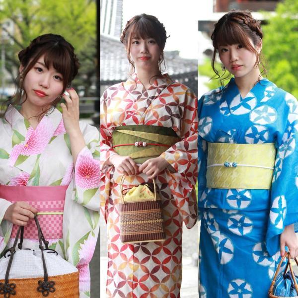 レディース 浴衣 2点セット S M Lサイズ ゆかた 半幅帯 浴衣帯 腰紐2本プレゼント セール対象外 女性 レトロ|kimono-kyoukomati|06