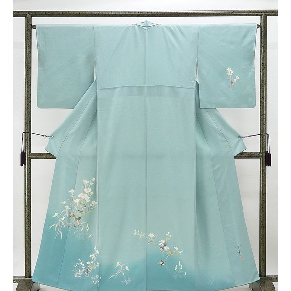 訪問着 正絹 加賀友禅 百貫石峰 付下訪問着 良品 リサイクル 着物 kimono-syoukaku