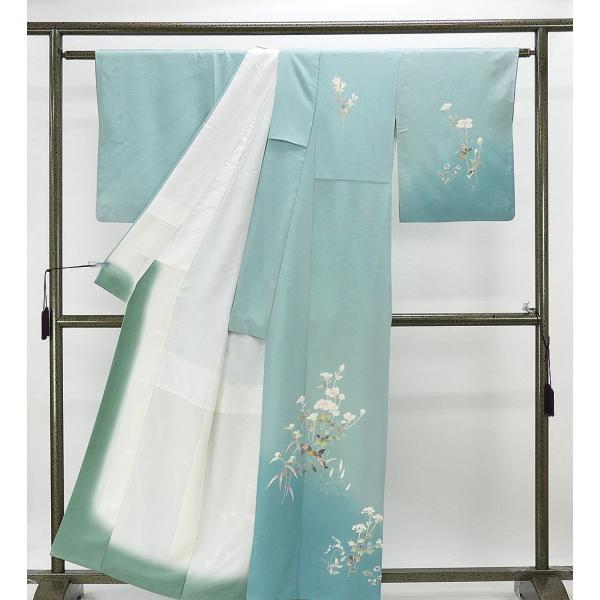 訪問着 正絹 加賀友禅 百貫石峰 付下訪問着 良品 リサイクル 着物 kimono-syoukaku 02