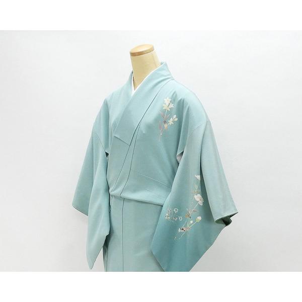 訪問着 正絹 加賀友禅 百貫石峰 付下訪問着 良品 リサイクル 着物 kimono-syoukaku 03