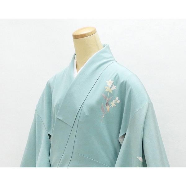 訪問着 正絹 加賀友禅 百貫石峰 付下訪問着 良品 リサイクル 着物 kimono-syoukaku 04