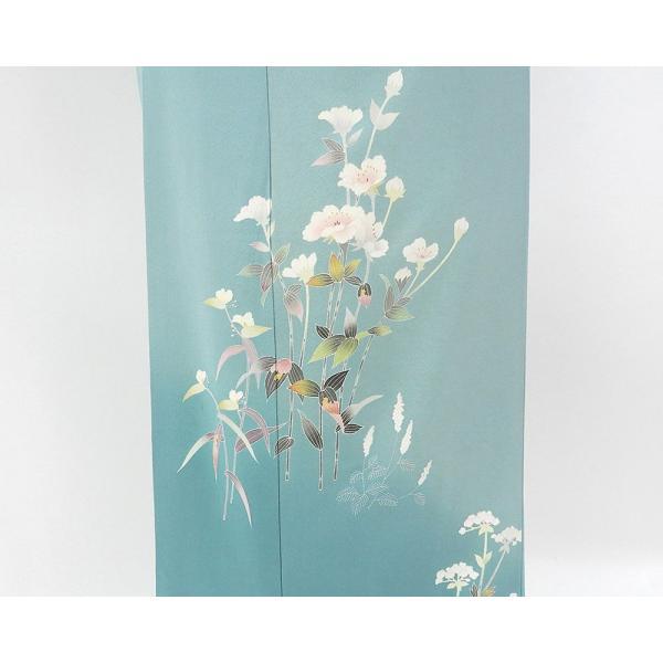 訪問着 正絹 加賀友禅 百貫石峰 付下訪問着 良品 リサイクル 着物 kimono-syoukaku 05