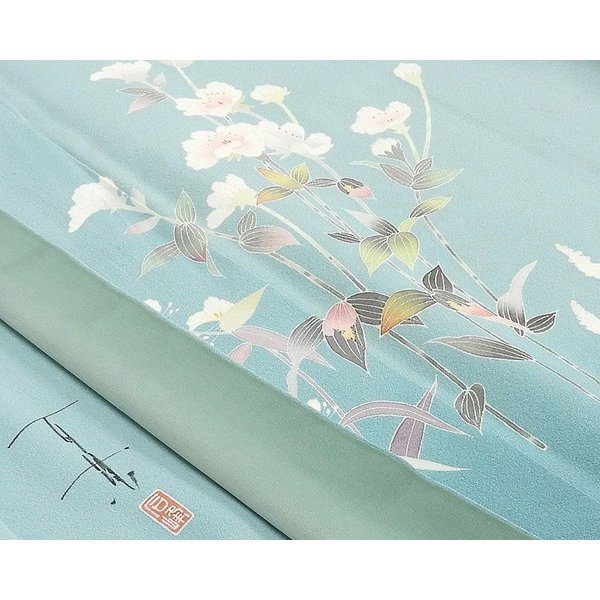 訪問着 正絹 加賀友禅 百貫石峰 付下訪問着 良品 リサイクル 着物 kimono-syoukaku 06