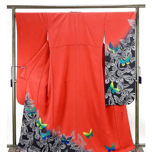 振袖 正絹 染色作家 斉藤三才作 振袖 美品  リサイクル  着物|kimono-syoukaku