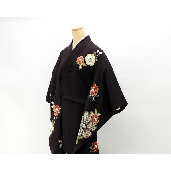 振袖 正絹 桜匹田模様 振袖 美品 リサイクル 着物|kimono-syoukaku|03