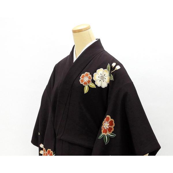 振袖 正絹 桜匹田模様 振袖 美品 リサイクル 着物|kimono-syoukaku|04