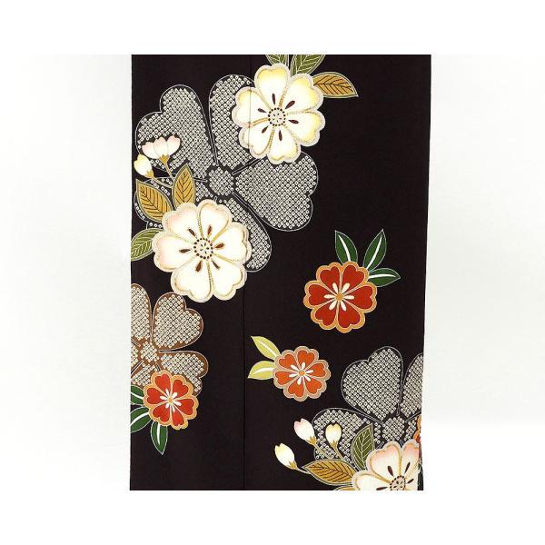 振袖 正絹 桜匹田模様 振袖 美品 リサイクル 着物|kimono-syoukaku|05