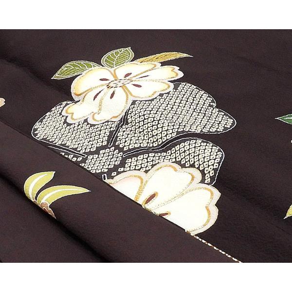 振袖 正絹 桜匹田模様 振袖 美品 リサイクル 着物|kimono-syoukaku|06