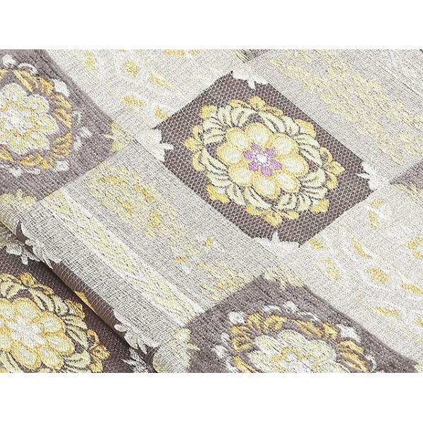 袋帯 新品仕立付き 正絹 西陣 織匠小平謹製 市松正倉院華文 ビロード織物 袋帯未仕立 仕立て代込み