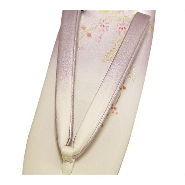 草履 レディース 礼装 フリーサイズ 藤色系の華柄 卒業式 入学式|kimono-waku|02
