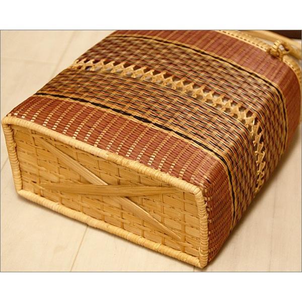 浴衣用の籠バッグ(麻素材)17-9.赤色の紙風船柄・巾着付き