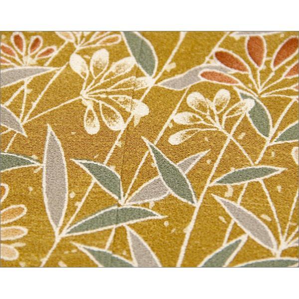 正絹 着物 仕立て上がり(袷・付け下げ訪問着) 17-2.山吹茶地に花柄・Lサイズ相当|kimono-waku|05