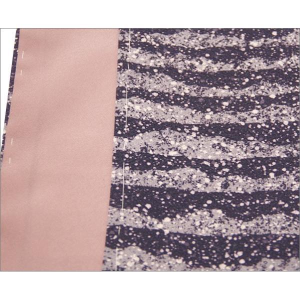 正絹 着物 仕立て上がり(袷・付け下げ訪問着) 17-4.一斤染(いっこんぞめ)地に菊柄・Mサイズ相当|kimono-waku|06