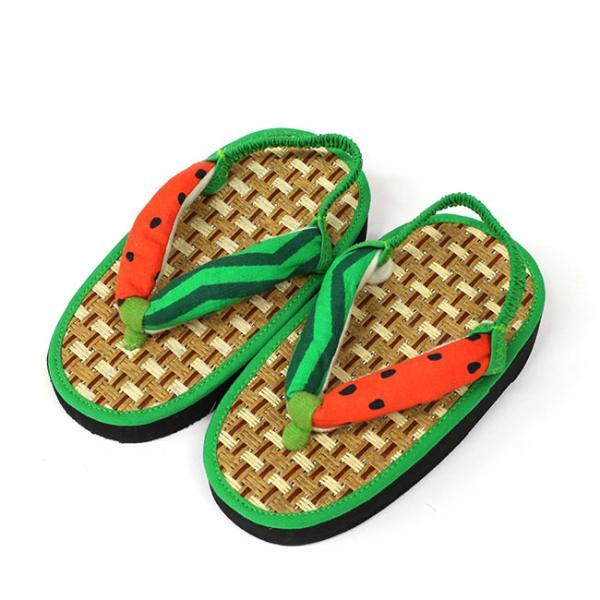 ここでしか買えない 子供 浴衣 サンダル 畳みたいで気持ちよい 軽い 歩きやすい 和柄 サンダル踵ゴム付き 15cm 16.5cm 18cm|kimonocafe-y|13