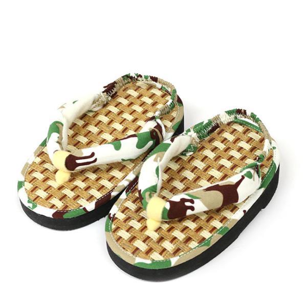 ここでしか買えない 子供 浴衣 サンダル 畳みたいで気持ちよい 軽い 歩きやすい 和柄 サンダル踵ゴム付き 15cm 16.5cm 18cm|kimonocafe-y|16