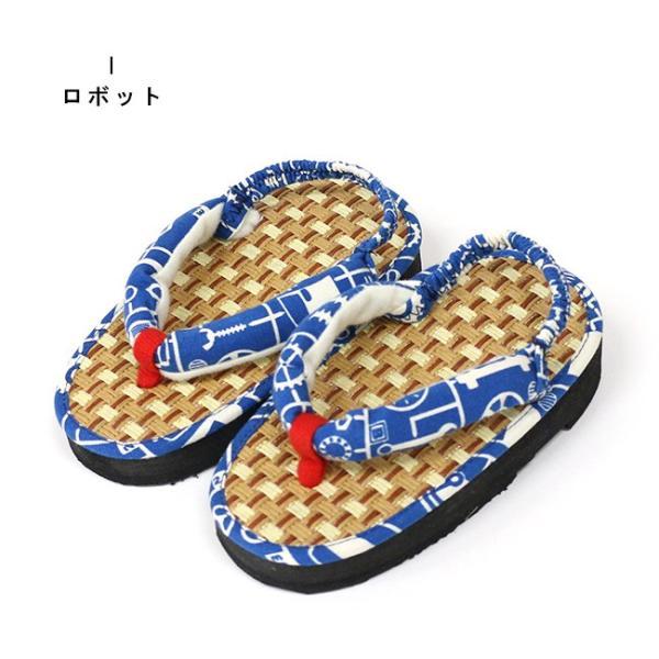 ここでしか買えない 子供 浴衣 サンダル 畳みたいで気持ちよい 軽い 歩きやすい 和柄 サンダル踵ゴム付き 15cm 16.5cm 18cm|kimonocafe-y|17