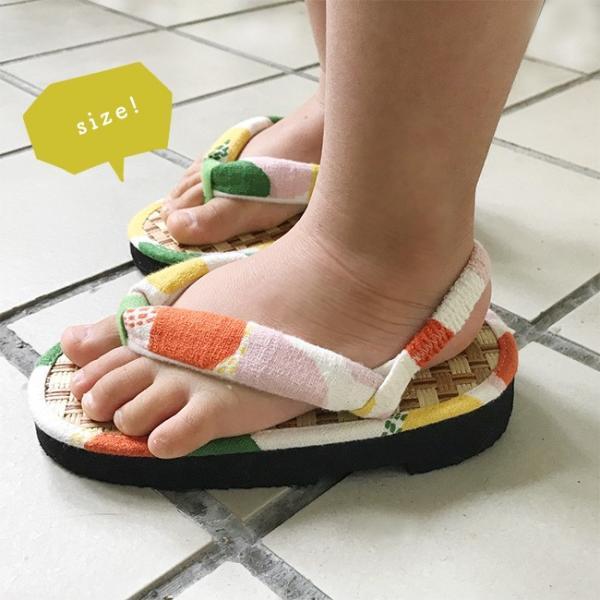 ここでしか買えない 子供 浴衣 サンダル 畳みたいで気持ちよい 軽い 歩きやすい 和柄 サンダル踵ゴム付き 15cm 16.5cm 18cm|kimonocafe-y|05