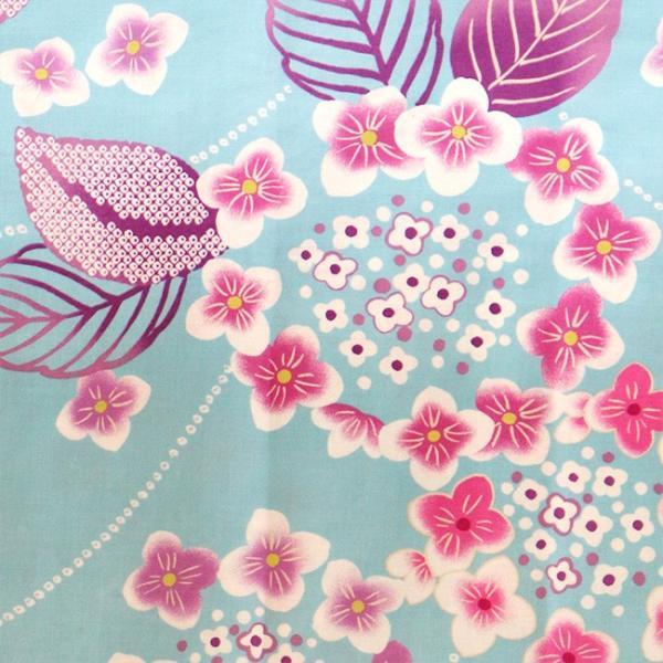 ハイジュニア 女の子 浴衣 帯 2点 セット 浴衣セットト 水色輪っか紫陽花 130cm 140cm 150cm 低学年 高学年|kimonocafe-y|04