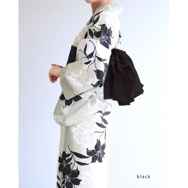 結び帯 浴衣帯 麻の兵児帯 近江ちぢみ 付け帯 浴衣 帯 付け帯 簡単 大人 レディース kimonocafe-y 12
