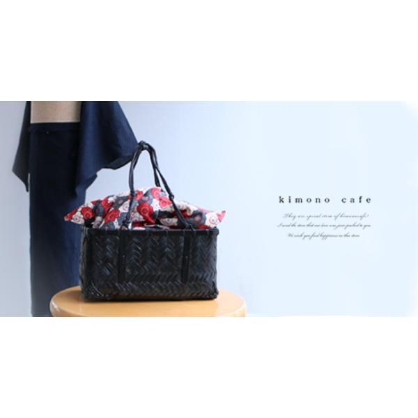 サンプル品&展示品のためお買い得! 浴衣かごバッグ 茶 黒 赤茶|kimonocafe-y|02