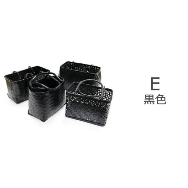 サンプル品&展示品のためお買い得! 浴衣かごバッグ 茶 黒 赤茶|kimonocafe-y|06