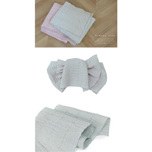 浴衣 セット 2点セット モノトーン三角 ホワイト 麻 兵児帯 浴衣セット kimonocafe フリーサイズ Sサイズ ワイドサイズ TLサイズ|kimonocafe-y|05