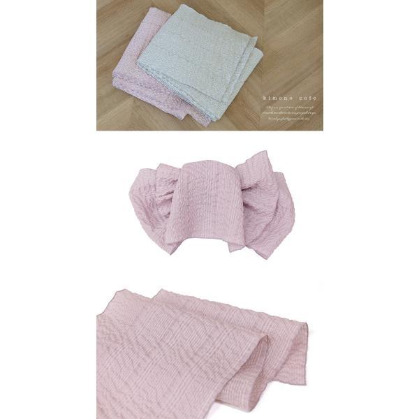 浴衣 セット 2点セット 市松薔薇 パープル 麻 兵児帯 浴衣セット kimonocafe フリーサイズ Sサイズ ワイドサイズ TLサイズ|kimonocafe-y|05