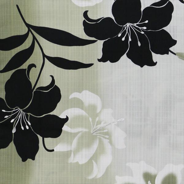 浴衣 セット 2点セット ぼかし黒百合 麻 兵児帯 浴衣セット kimonocafe フリーサイズ Sサイズ ワイドサイズ TLサイズ|kimonocafe-y|03
