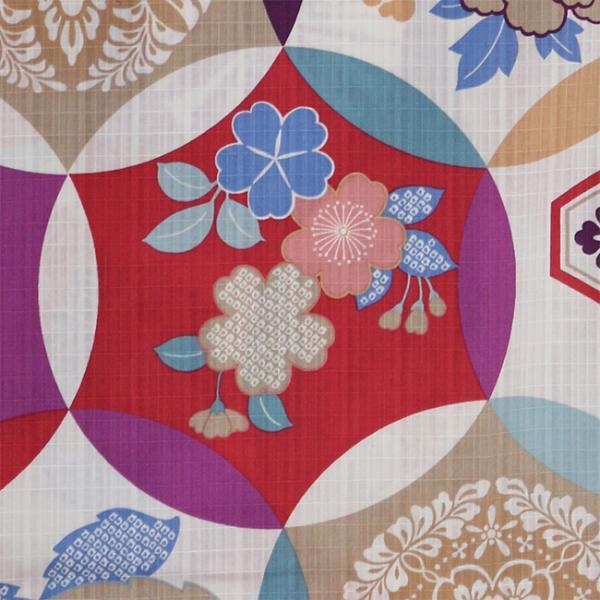 浴衣 セット 2点セット レトロ丸紋 パープル 麻 兵児帯 浴衣セット kimonocafe フリーサイズ Sサイズ ワイドサイズ TLサイズ|kimonocafe-y|03