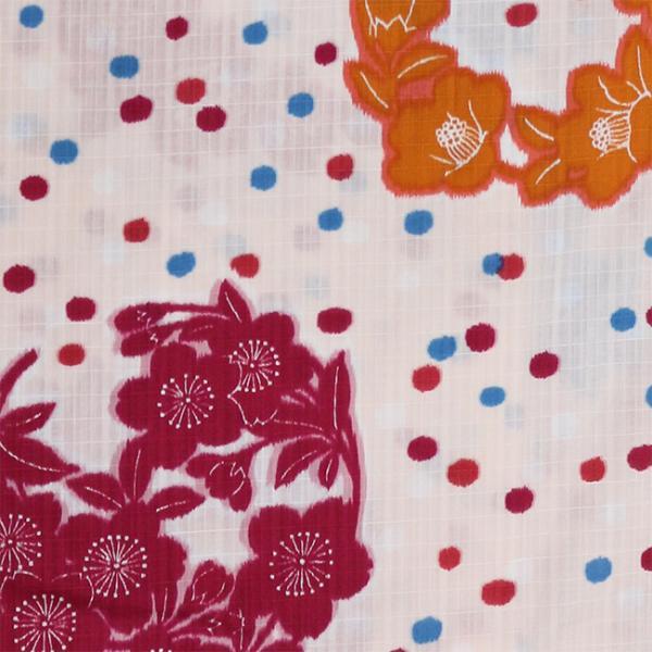 浴衣 セット 2点セット 花丸水玉 ライトピンク 麻 兵児帯 浴衣セット kimonocafe フリーサイズ Sサイズ ワイドサイズ TLサイズ|kimonocafe-y|03