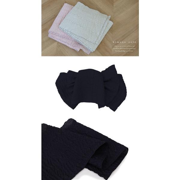 浴衣 セット 2点セット チェック ブルー 麻 兵児帯 浴衣セット kimonocafe フリーサイズ Sサイズ ワイドサイズ TLサイズ|kimonocafe-y|05