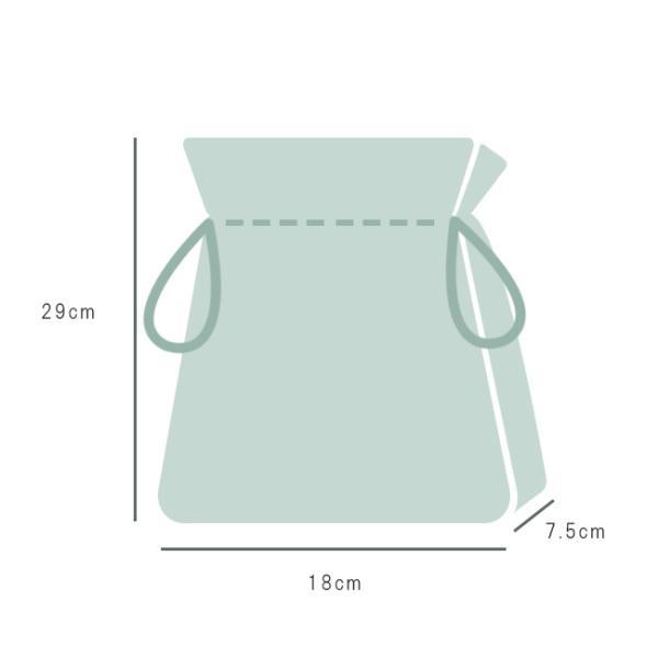巾着袋 巾18cm 刺し子風 ボタニカル マチあり 給食袋 小物入れ 綿|kimonocafe-y|03