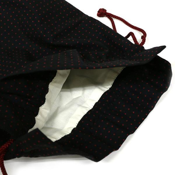 巾着袋 巾18cm 刺し子風 ボタニカル マチあり 給食袋 小物入れ 綿|kimonocafe-y|04