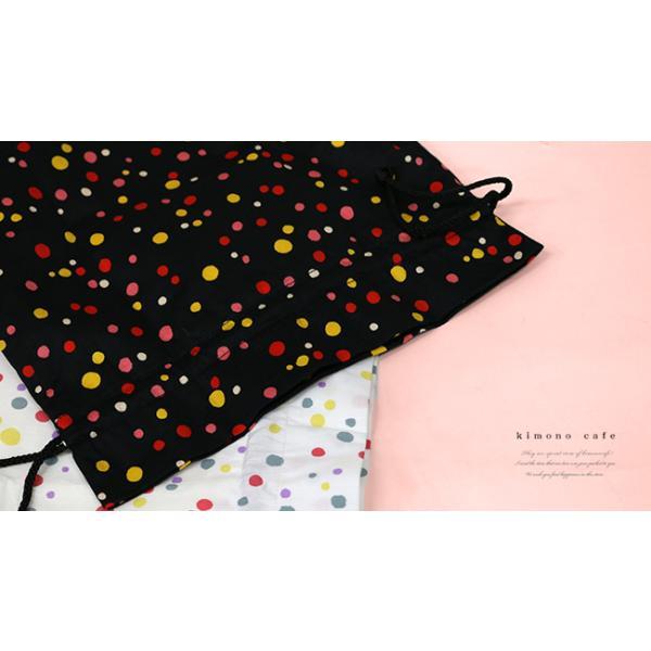 巾着袋 巾22cm 水玉 マチあり 給食袋 小物入れ 綿 kimonocafe-y 02