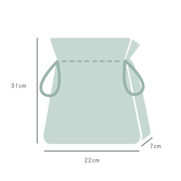 巾着袋 巾22cm 水玉 マチあり 給食袋 小物入れ 綿 kimonocafe-y 03