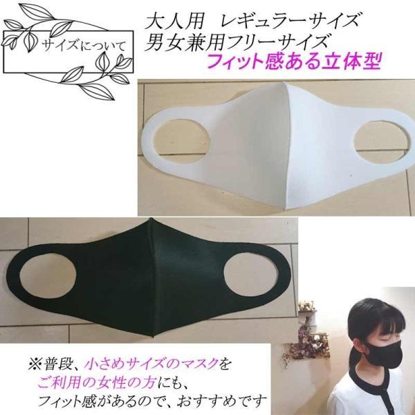 在庫限り 洗えるガードマスク 3枚 (全2色) 白色 黒色 大人 レギュラーサイズ 3次元メッシュフィルター構造 GUARDMASUK 返品交換キャンセル不可 1期 masuku009 z kimonohiroba-you 05