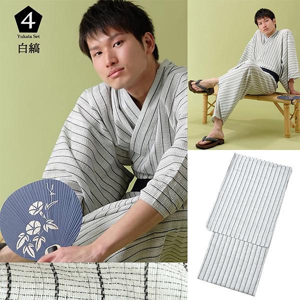 浴衣 メンズ 男性用  浴衣福袋5点セットS/M/L/LL/3L/4L(メール便不可) kimonomachi 05