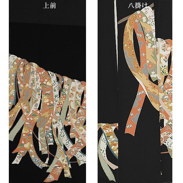 お仕立て上がり黒留袖「誰が袖」紋入れ代込み 正絹着物 留袖 高級プレタ (メール便不可)ss1909kr160|kimonomachi|04