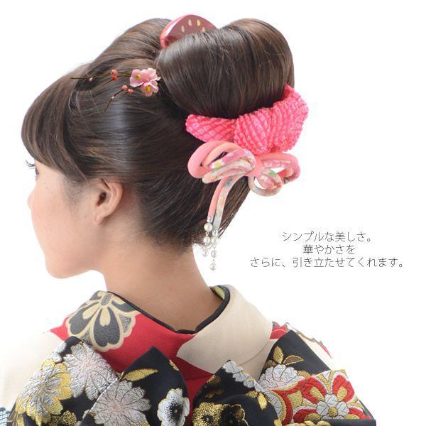 梅小花 髪飾り「赤色ぼかし、ピンク色」 ポイント髪飾り Uピン髪飾り  成人式|kimonomachi|04